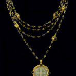 Bicone Magdalena (Gold/Jet/Black Diamond)