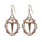Envy Pendant Earrings (Gold)