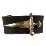 Suede Envy Cuff (Gold/Clear)