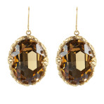 Crystal Earrings (Gold/Lt. Colorado)
