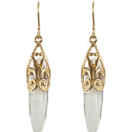 Dangle Earrings (Gold/Clear)