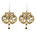 Royal Queen Earrings (Gold/Jet)