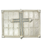 Resurrection Cross Buckle (Silver/Denim)