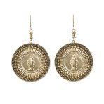 Resurrection Virgin Disco Earrings (Gold/Denim)