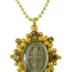 San Benito Charm (Gold/Clear/Black Diamond)