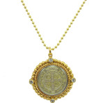 San Benito Charm Necklace (Gold/Clear)