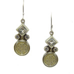 San Benito Square Earrings (Silver/Clear/Jet)