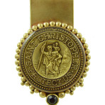 St.Christopher Money Clip (Gold/Black)