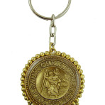 St. Christopher Keychain (Gold/Lt. Colorado)