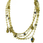 Tribal Chain Milagro Necklace (Gold/Purple)