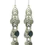 Tribal Feather Milagro Earrings (Silver)