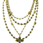 Multi Mixed Magdalena  Gold/Antique Brass/Multi Stones
