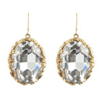 Crystal Earrings  (Gold/Clear)