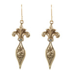 Fleur de Lis Earrings (Gold/Silver Shade)