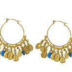 Tribal Milagro Hoop Earrings  Gold