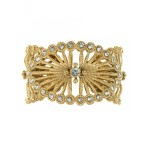 VSA Queen of the Night Cuff in Gold & Capri Blue